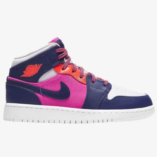 【降价】Air Jordan 乔丹 AJ 1 Mid 大童款篮球鞋 粉紫 .99(约527元) - 海淘优惠海淘折扣|55海淘网