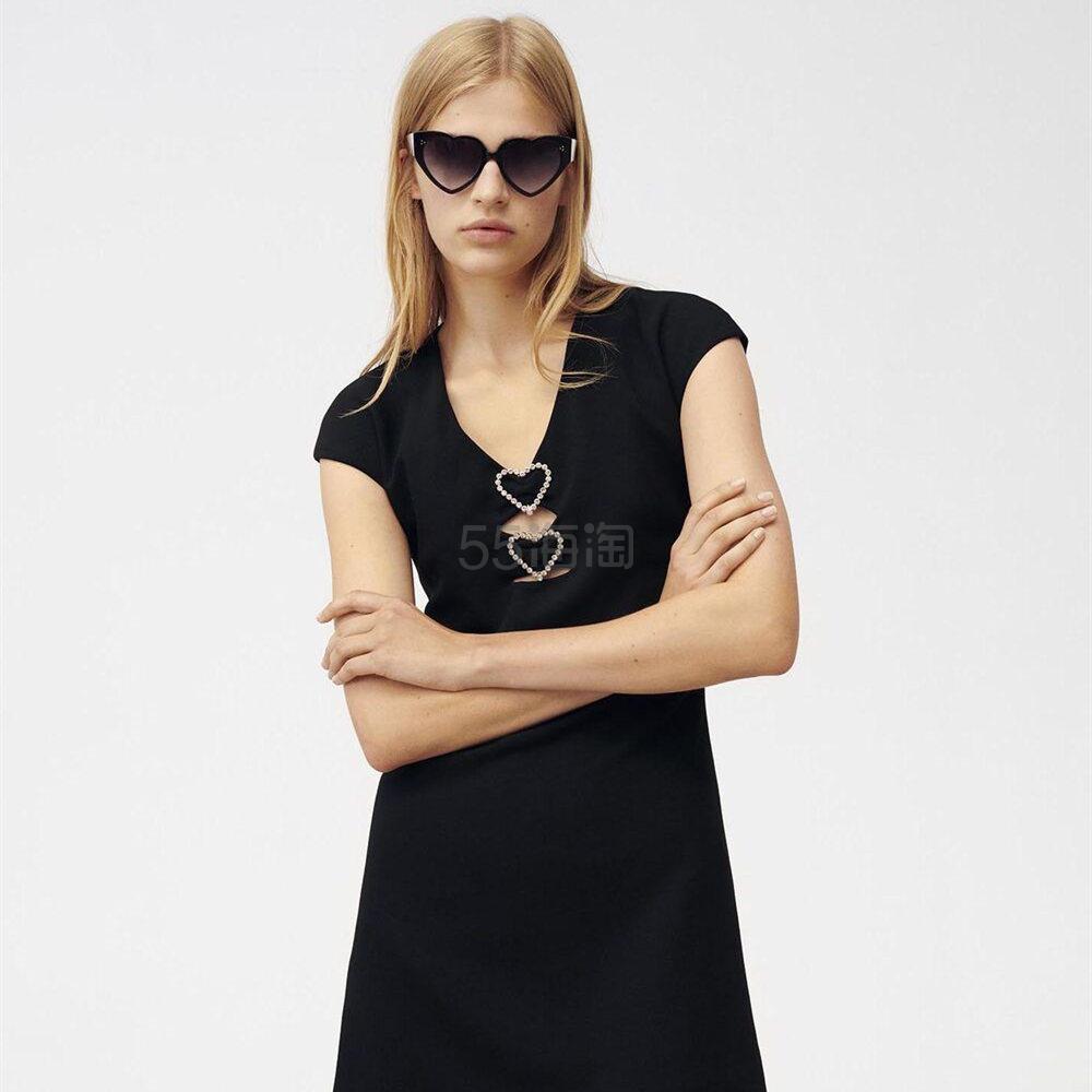 Maje 爱心镂空短袖连衣裙 1.25(约1,556元) - 海淘优惠海淘折扣|55海淘网
