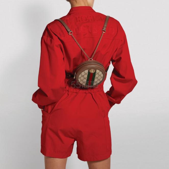 【热卖品】GUCCI  Mini Canvas Ophidia 小圆饼双肩包 港币7,900(约7,232元) - 海淘优惠海淘折扣 55海淘网