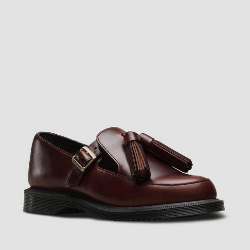 Dr. Martens GRACIA 深酒红色流苏乐福鞋