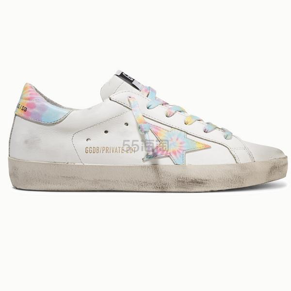 【独家发售】Golden Goose Superstar 仿旧扎染皮革运动鞋 596.6澳币(约2,584元) - 海淘优惠海淘折扣|55海淘网