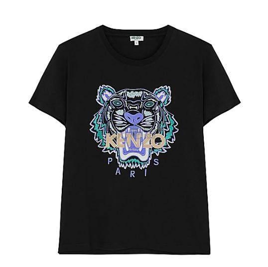 Kenzo 女款黑色虎头T恤衫 (约631元) - 海淘优惠海淘折扣|55海淘网