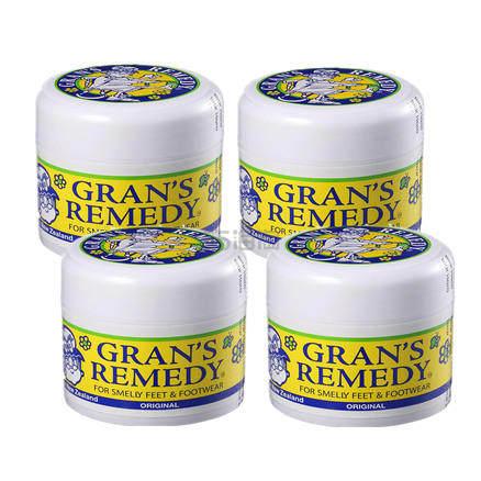 【包邮】Grans Remedy 新西兰 老奶奶神奇除脚臭粉(原味)50g*4件 55.2纽币(约229元) - 海淘优惠海淘折扣|55海淘网
