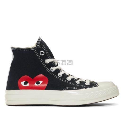 Comme des Garçons Play 男士黑色高帮运动鞋 0(约983元) - 海淘优惠海淘折扣|55海淘网