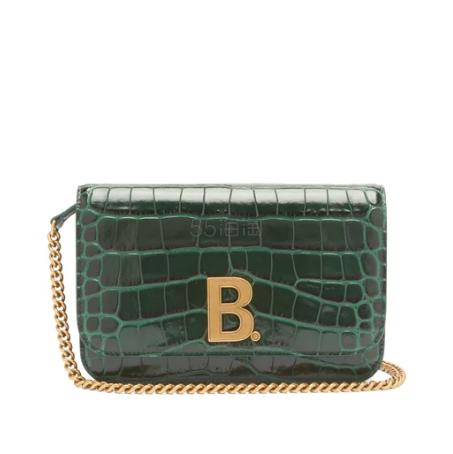 BALENCIAGA B-logo 绿色鳄鱼皮纹理包包 €621.6(约4,757元) - 海淘优惠海淘折扣|55海淘网