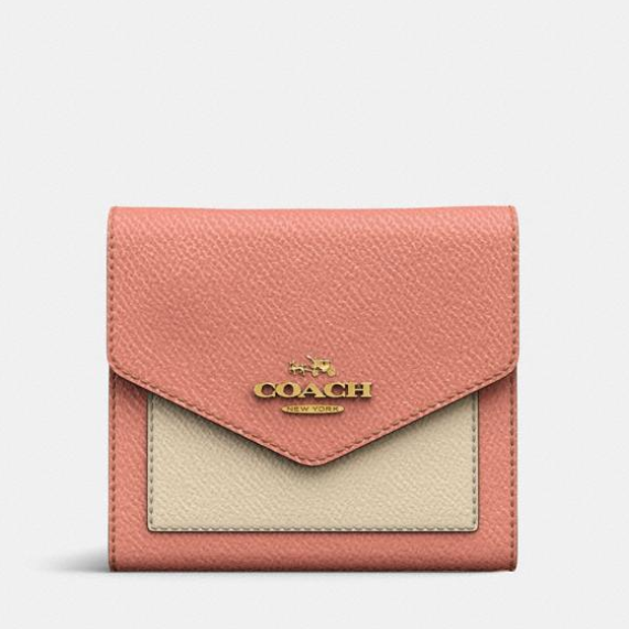 最后一只~Coach Small Wallet In Colorblock 拼接小钱包