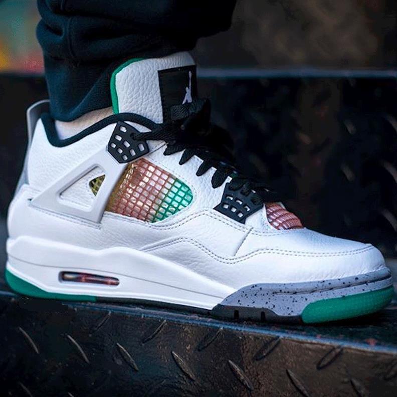 Air Jordan 乔丹 4 Retro 女子篮球鞋 Lucid Green 白绿