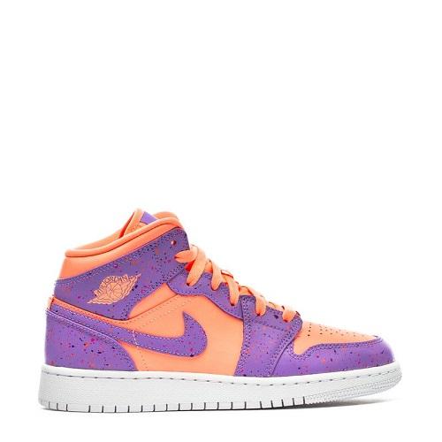 Jordan 乔丹 1 Low 大童运动鞋 樱花粉