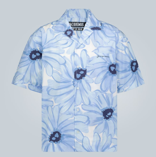 JACQUEMUS 花卉印花短袖衬衫