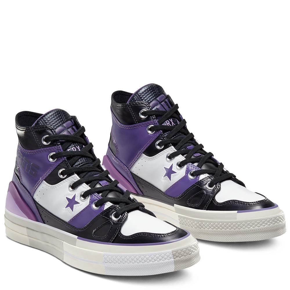 Converse 匡威 Chuck 70 E260 紫色拼色高帮鞋