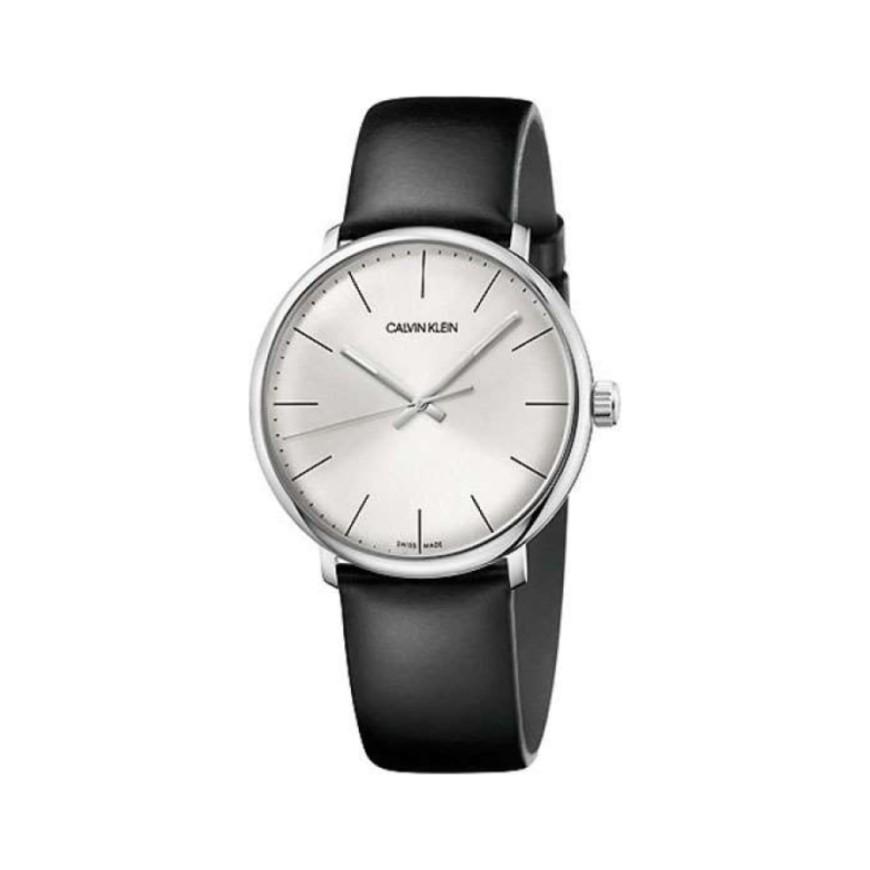 Calvin Klein 卡尔文·克莱因 High Noon 系列 银黑色男士时装腕表 K8M211C6