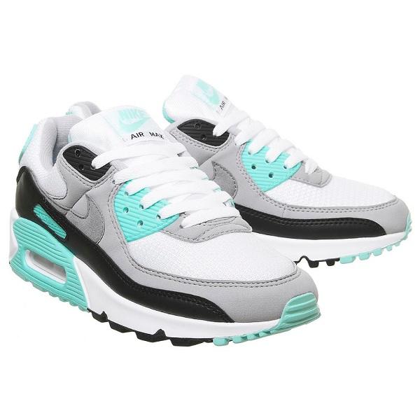 Nike 耐克 Air Max 90 灰绿色拼接运动鞋
