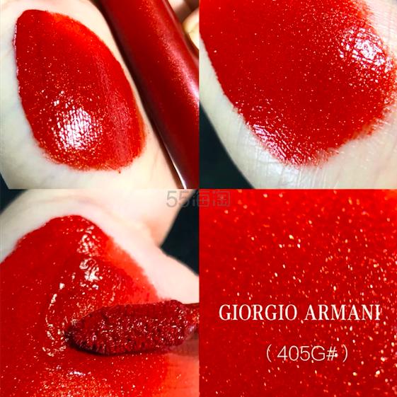 【直邮神价】Giorgio Armani 阿玛尼 限量金闪红管唇釉 405G