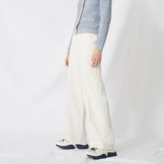 Maje 白色条纹阔腿裤
