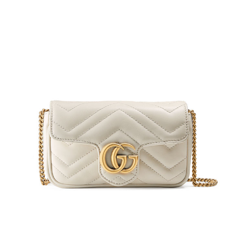 Gucci 古驰 GG Marmont Super Mini 链条包