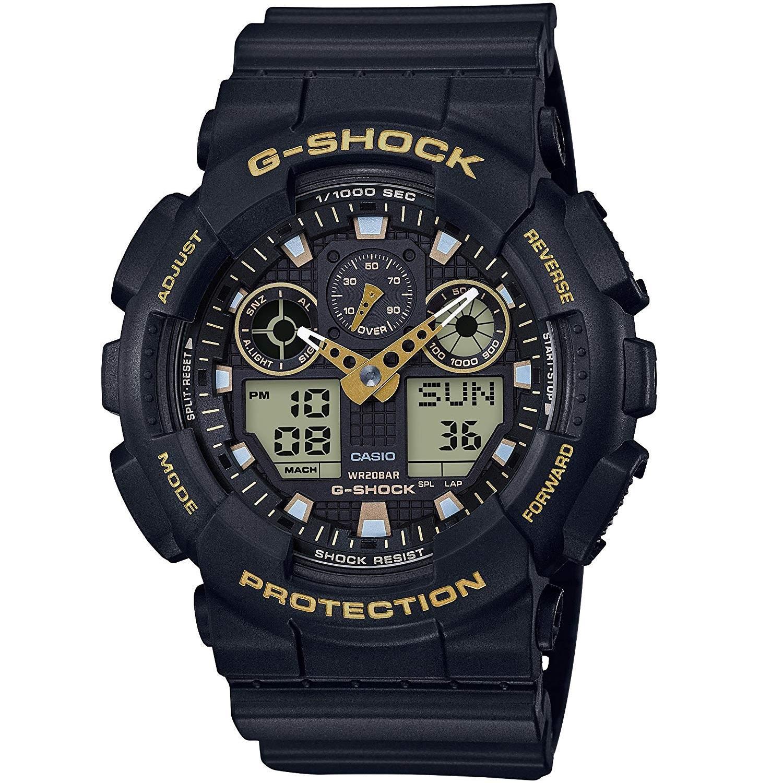 好价!Casio 卡西欧 G-SHOCK GA-100GBX-1A9ER 多功能双显运动手表