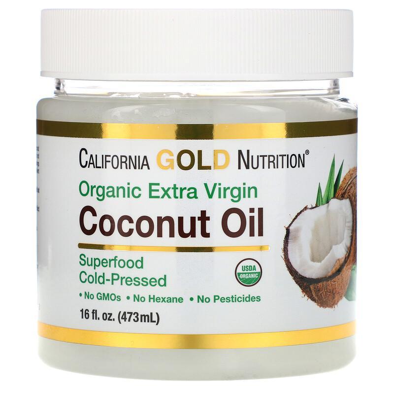 California Gold Nutrition 冷榨有机初榨椰子油 473ml