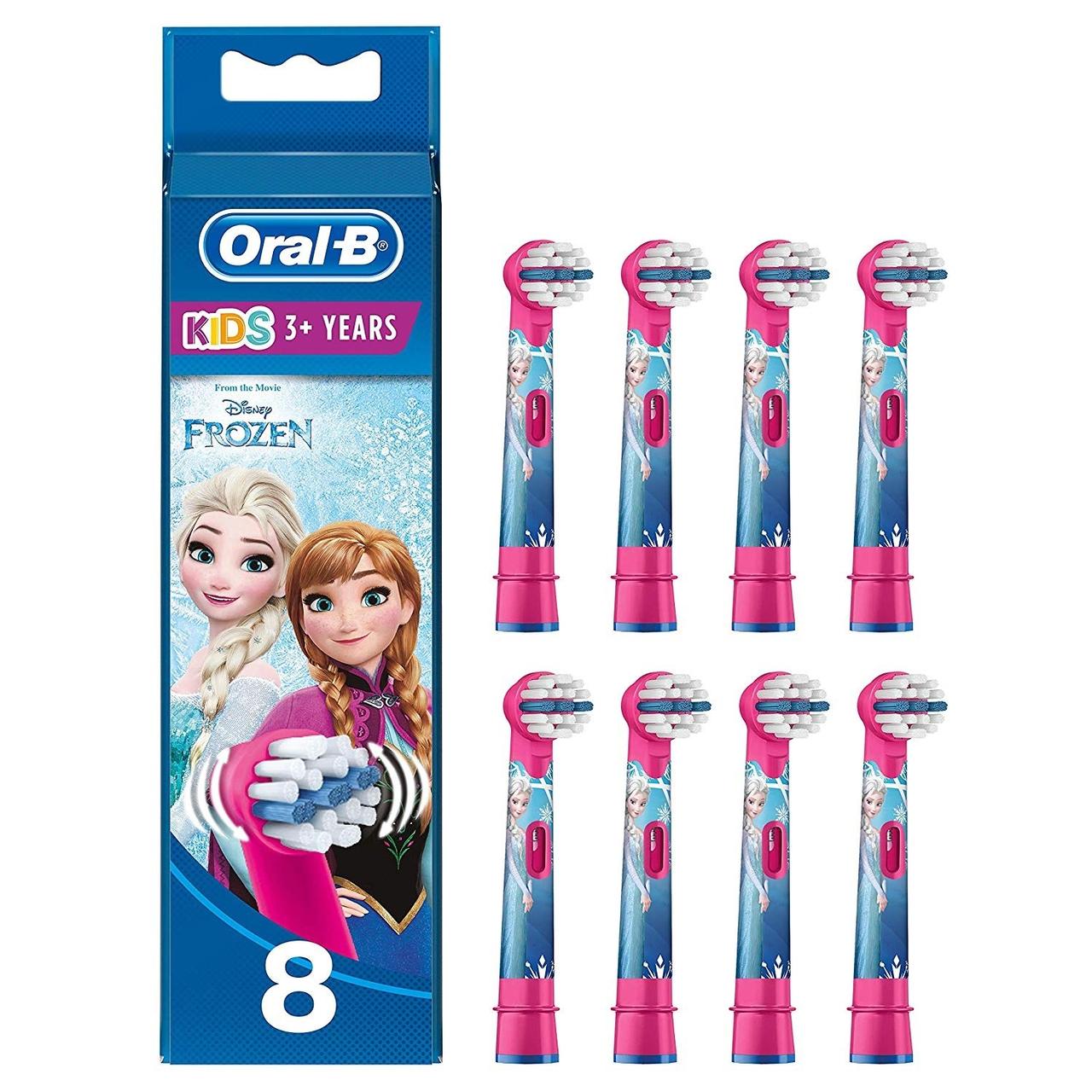 降价!【亚马逊海外购】Oral-B 欧乐 Stages Power 儿童电动牙刷替换刷头8支装 冰雪奇缘款