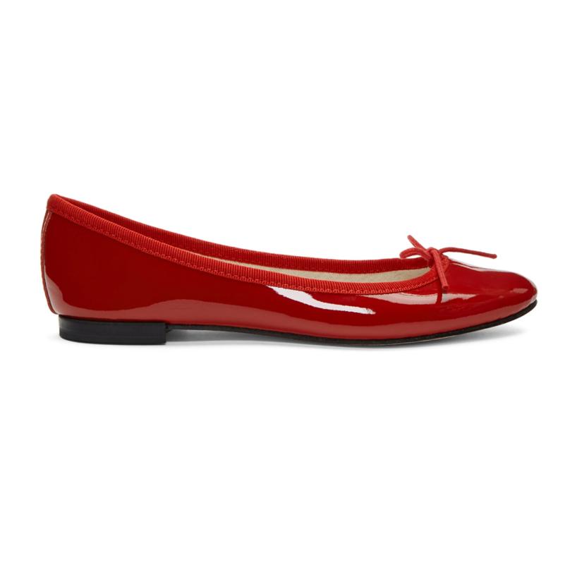 Repetto 红色 Cendrillon 漆皮芭蕾平底鞋