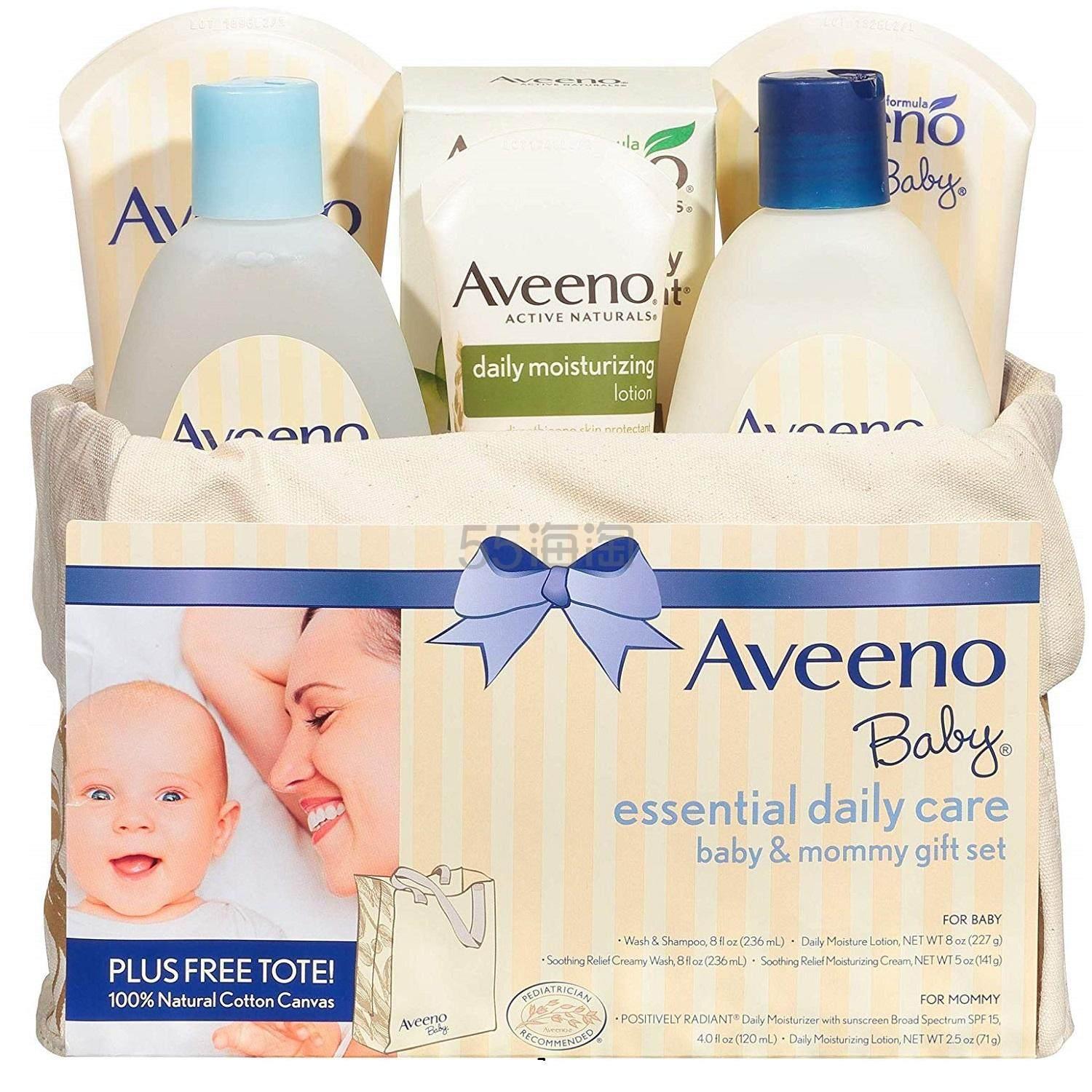 满¥517减¥103!【中亚Prime会员】Aveeno 艾维诺 日常母婴护肤套装礼盒 6件套