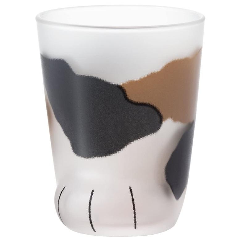 3件9折!Aderia 津轻玻璃 可爱小奶猫爪杯玻璃杯 230ml