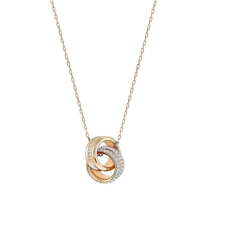 Swarovski 施华洛世奇 立体编结双环水晶项链