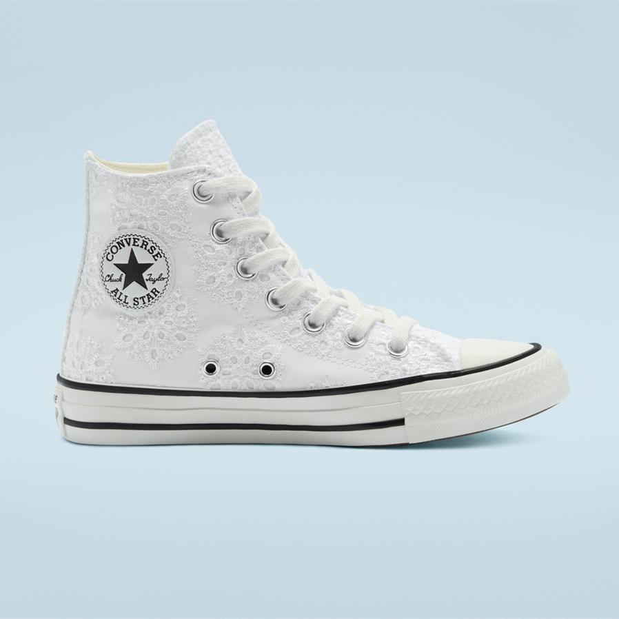 Converse 匡威 All Star 白色花卉高帮鞋