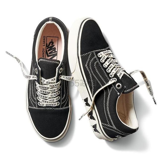 VANS x Sandy Liang 联名 Old Skool 刺绣印花帆布绒面革运动鞋 .76(约606元) - 海淘优惠海淘折扣|55海淘网