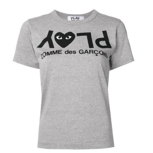 COMME DES GARÇONS PLAY 反转logo T恤