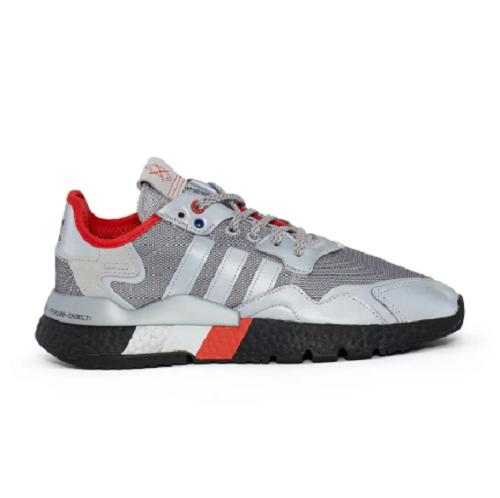 Adidas 阿迪达斯 Originals Nite Jogger 运动鞋 银灰红配色