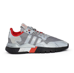 【额外3折】Adidas 阿迪达斯 Originals Nite Jogger 运动鞋 银灰红配色