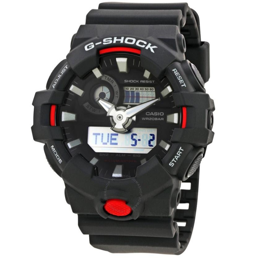 Casio 卡西欧 G-Shock 系列 黑色男士运动腕表 GA700-1A