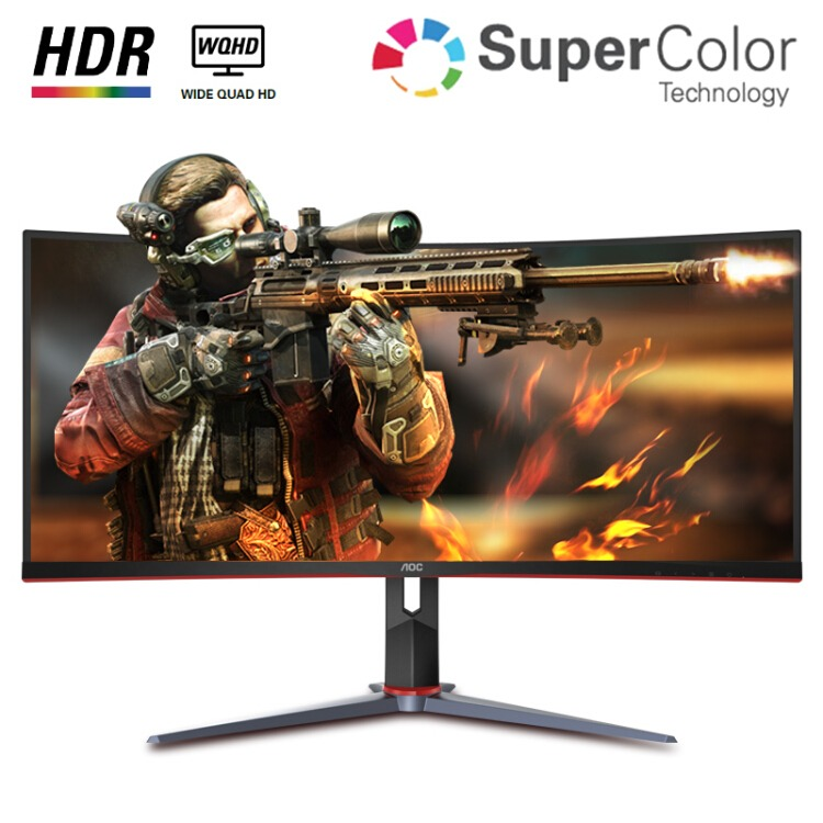 【5日0点】AOC CU34G2X 34英寸 VA显示器(144Hz、1ms、119%sRGB、1500R、HDR10)