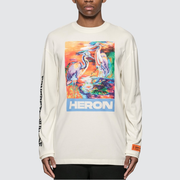 HERON PRESTON HERON BIRDS 苍鹭印花长袖T恤
