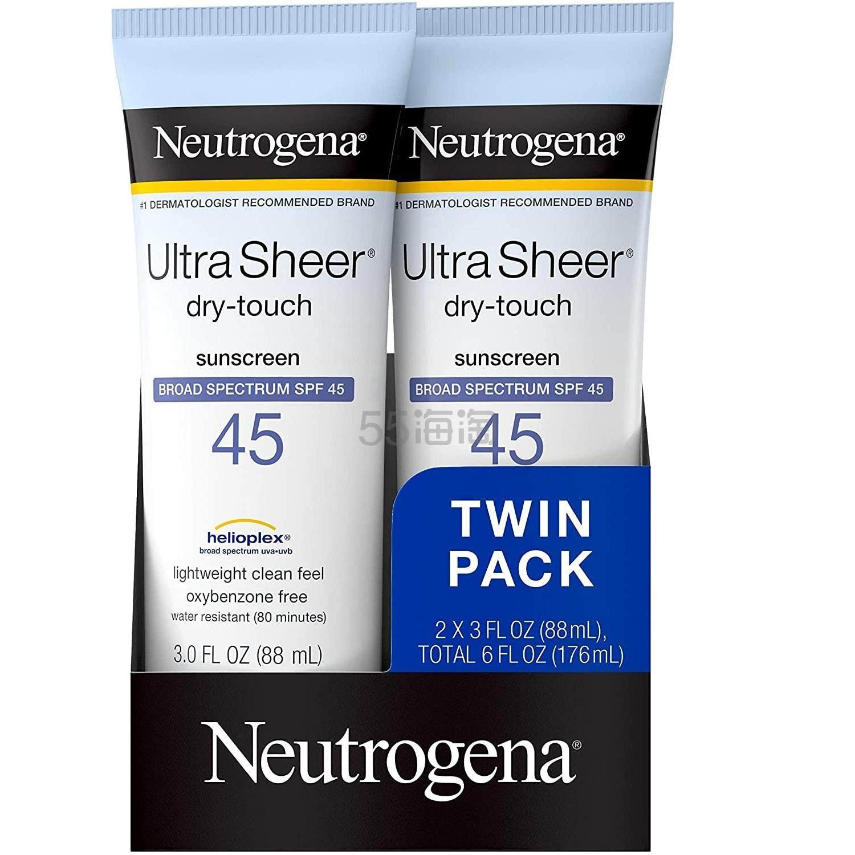 第2件半价!【中亚Prime会员】Neutrogena 露得清 超透明防晒霜 2支装