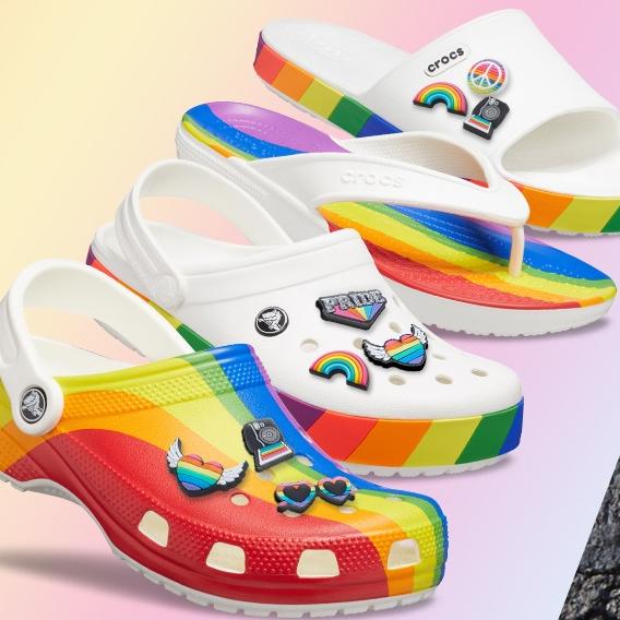 Crocs 美国官网:精选 骄傲月彩虹系列洞洞鞋等