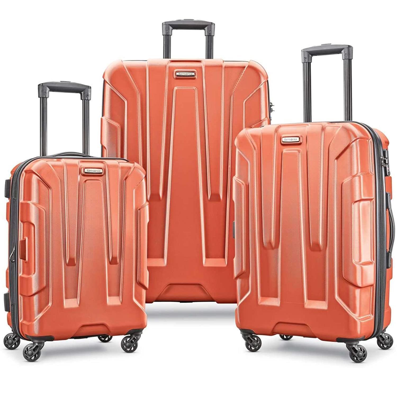 近期好价!Samsonite 新秀丽 Centric 万向轮行李箱3件套 20+24+28寸 橙色
