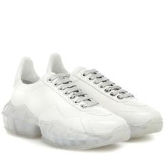 【7折】JIMMY CHOO Diamond/F 皮革运动鞋