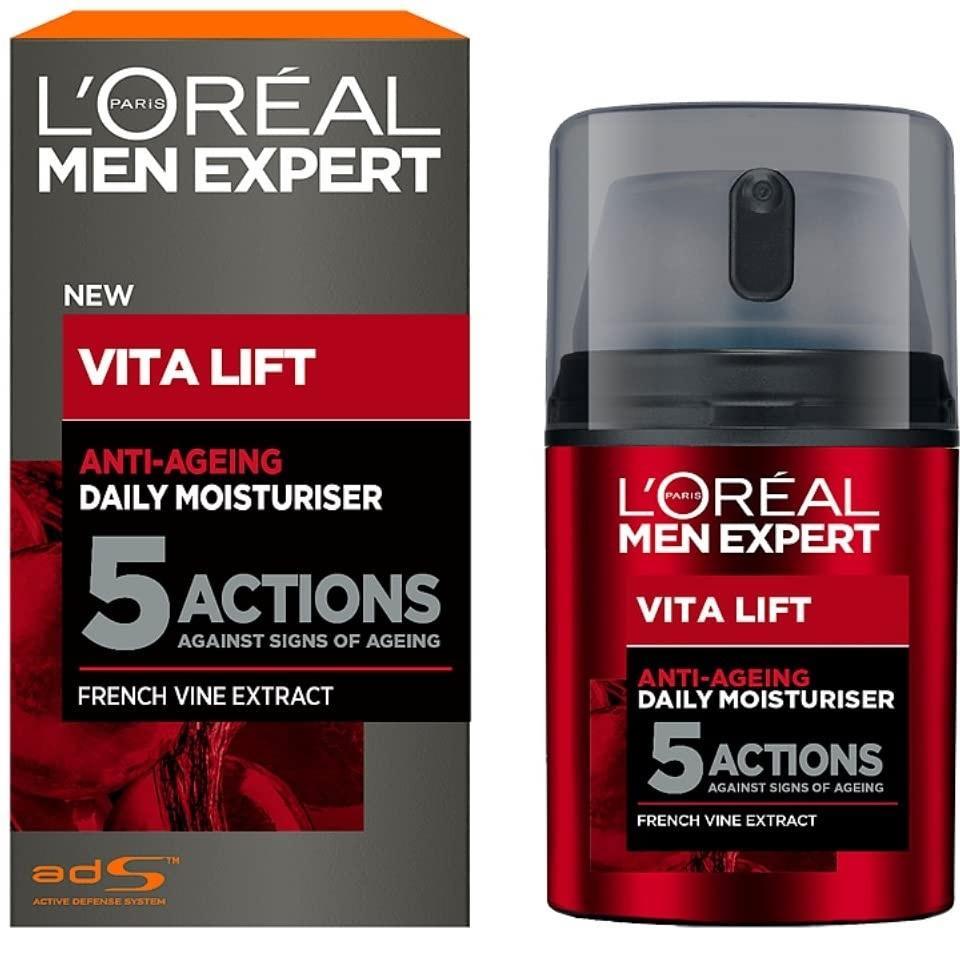 低价!L'Oréal 欧莱雅 Vita Lift 5 男士锐能抗皱紧致护肤多效霜 50ml
