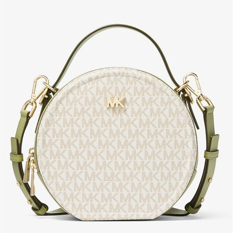 【新低!】Michael Kors Delaney 中号 Logo 印花圆饼包