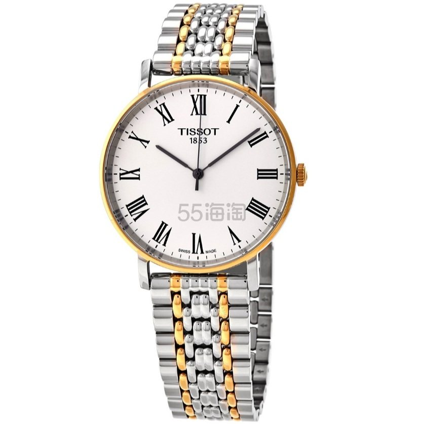 【55专享】Tissot 天梭 Everytime 系列 金银双色气质腕表 T109.410.22.033.00