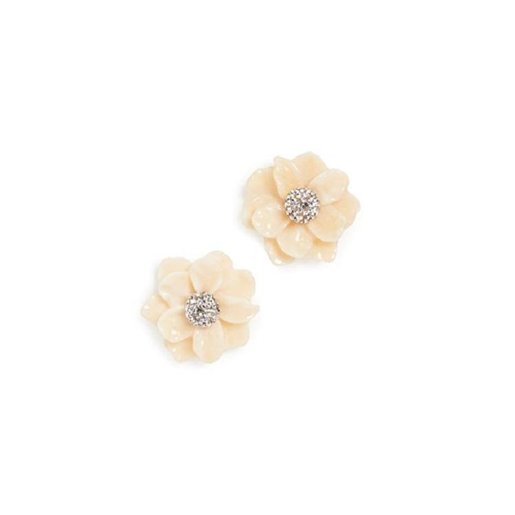 Lele Sadoughi Gardenia 花卉耳钉