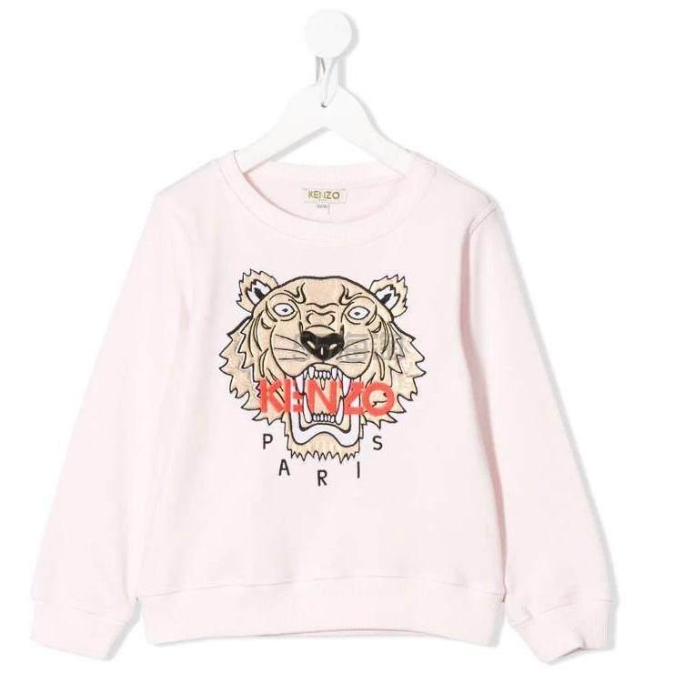 Kenzo Kids 老虎刺绣套头衫