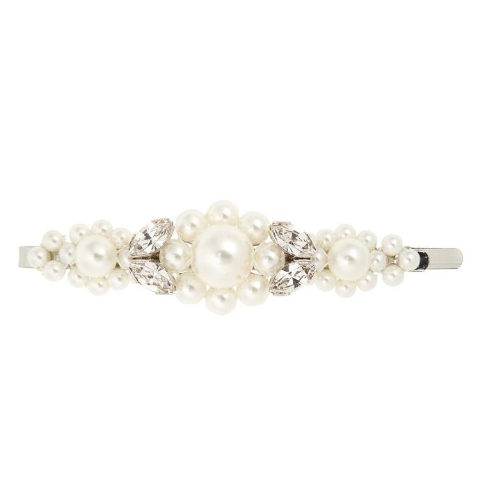 SIMONE ROCHA 大号花卉人造珍珠镶嵌发夹