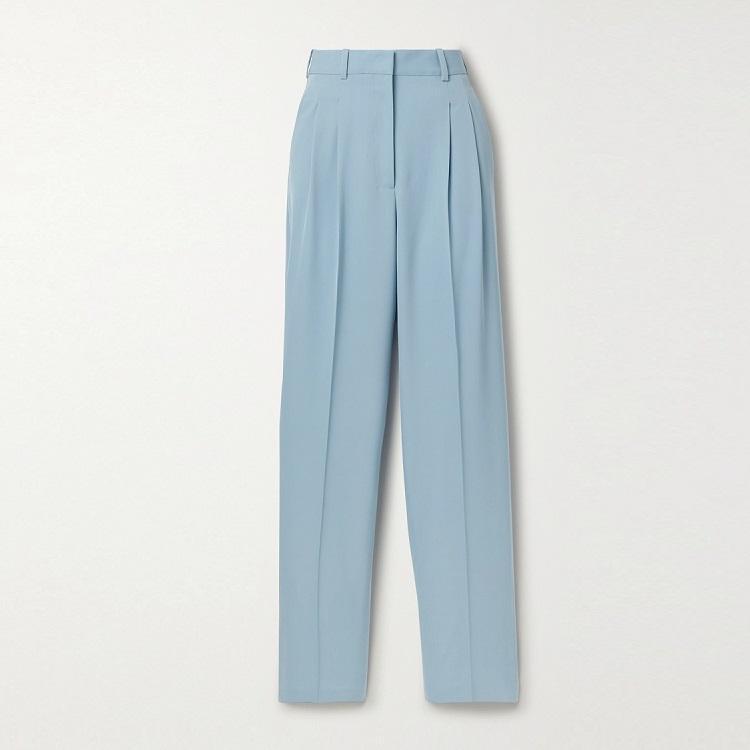 STELLA MCCARTNEY 羊毛混纺阔腿裤