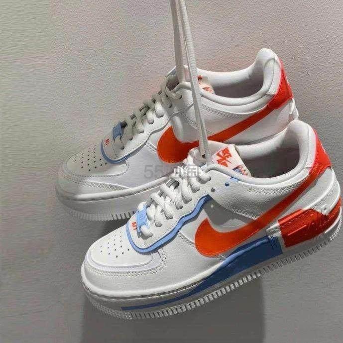 Nike Air Force 1 Shadow 马卡龙红白蓝女士运动鞋