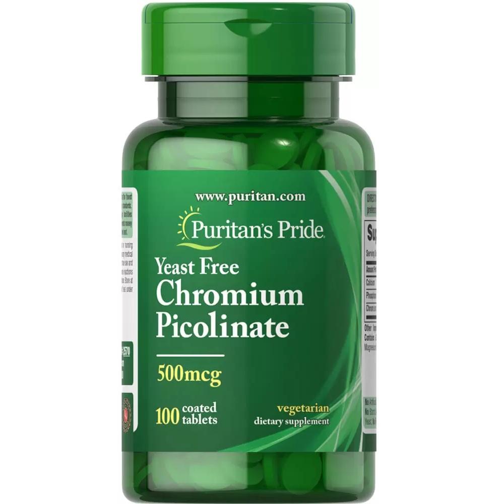 Puritan's Pride 普丽普莱 无酵母吡啶甲酸铬片 500mcg 100粒