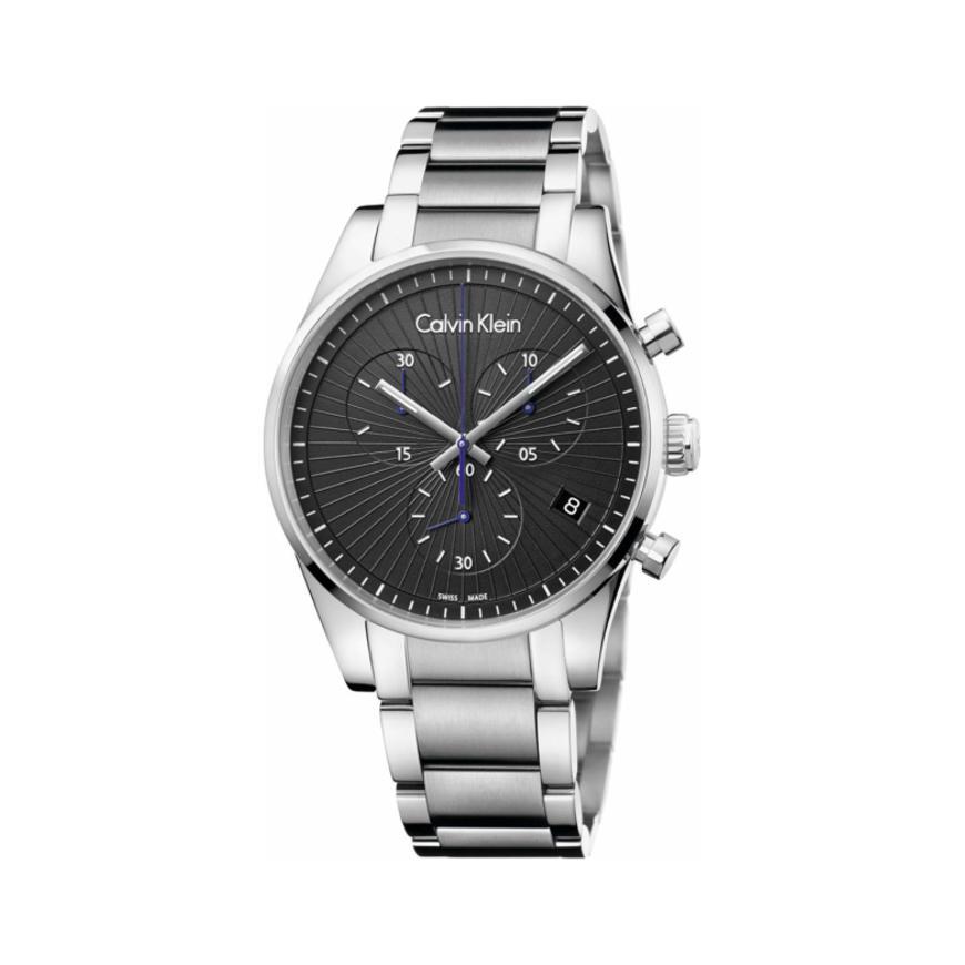 Calvin Klein 卡尔文·克莱因 Steadfast 系列 银黑色男士气质腕表 K8S27141
