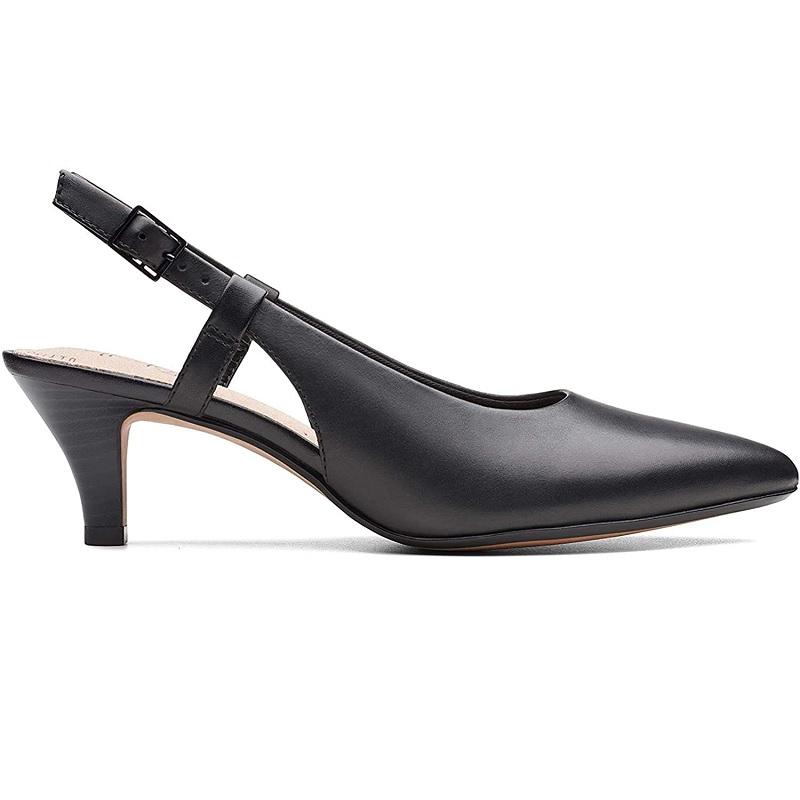 Clarks 其乐 Linvale Loop 黑色包头高跟鞋