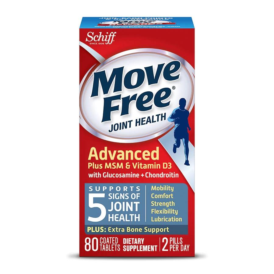 Schiff Move Free 维骨力 氨基葡萄糖软骨素+MSM&维生素 D3 蓝盒 80粒